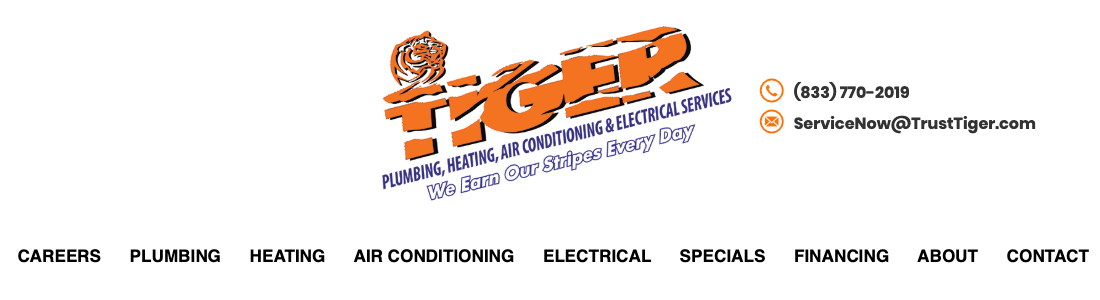 Tiger Plumbing, Heating, Air Conditioning and Electrical Services